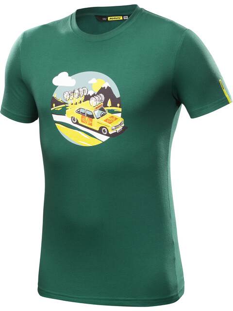 Mavic SSC Yellow Car T-Shirt Herrer petroleumsgrøn